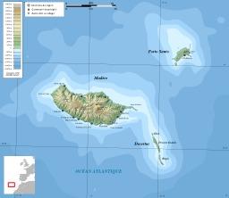 Carte topographique de l'île de Madère. Source : http://data.abuledu.org/URI/550897c8-carte-topographique-de-l-ile-de-madere