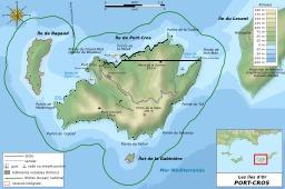 Carte topographique de Port-Cros. Source : http://data.abuledu.org/URI/548d7aa2-carte-topographique-de-port-cros