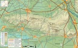 Carte topographique des Alpilles. Source : http://data.abuledu.org/URI/51ca294a-carte-topographique-des-alpilles