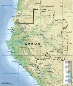 Carte topographique du Gabon. Source : http://data.abuledu.org/URI/52b4d2ba-carte-topographique-du-gabon