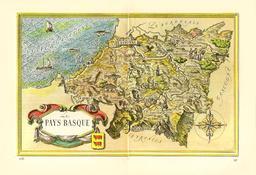 Carte touristique ancienne du Pays Basque. Source : http://data.abuledu.org/URI/527ff06e-carte-touristique-ancienne-du-pays-basque