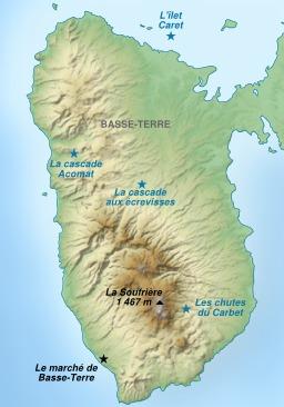 Carte touristique de l'île de Basse-Terre. Source : http://data.abuledu.org/URI/51cf3e3c-carte-touristique-de-l-ile-de-basse-terre