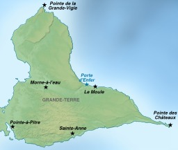 Carte touristique de l'île de Grande-Terre. Source : http://data.abuledu.org/URI/51cf3e83-carte-touristique-de-l-ile-de-grande-terre
