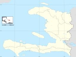 Carte vierge d'Haïti avec les limites départementales. Source : http://data.abuledu.org/URI/50e7755b-carte-vierge-d-haiti-avec-les-limites-departementales
