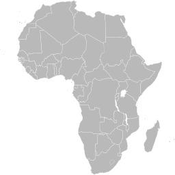 Carte vierge de l'Afrique avec frontières. Source : http://data.abuledu.org/URI/507729d7-carte-vierge-de-l-afrique-avec-frontieres