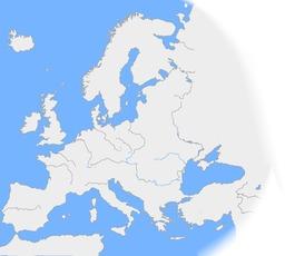 Carte vierge des fleuves d'Europe. Source : http://data.abuledu.org/URI/52c673c0-carte-vierge-des-fleuves-d-europe