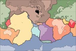 Carte vierge des plaques continentales. Source : http://data.abuledu.org/URI/5094dcf8-carte-vierge-des-plaques-continentales