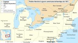 Cartographie de la guerre anglo-américaine de 1812. Source : http://data.abuledu.org/URI/51ca2ada-cartographie-de-la-guerre-anglo-americaine-de-1812