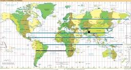Cartographie des fuseaux horaires. Source : http://data.abuledu.org/URI/51ca2285-cartographie-des-fuseaux-horaires