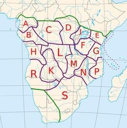 Cartographie des langues bantoues. Source : http://data.abuledu.org/URI/52d26d96-cartographie-des-langues-bantoues