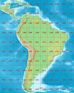 Cartographie des zones UTM en Amérique du Sud. Source : http://data.abuledu.org/URI/5467aed6-cartographie-des-zones-utm-en-amerique-du-sud