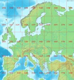 Cartographie des zones UTM en Europe. Source : http://data.abuledu.org/URI/5467ac80-cartographie-des-zones-utm-en-europe