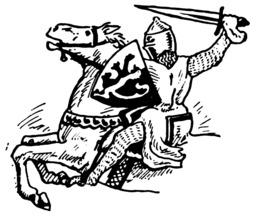 Cavalier avec son bouclier. Source : http://data.abuledu.org/URI/501ea6e3-cavalier-avec-son-bouclier