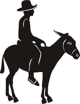 Cavalier sur un âne. Source : http://data.abuledu.org/URI/50478a20-cavalier-sur-un-ane