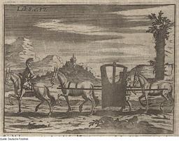 Chaise à porteurs entre deux mules. Source : http://data.abuledu.org/URI/517e6697-chaise-a-porteurs-entre-deux-mules