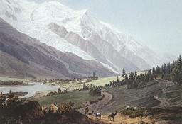 Chamonix au 18ème siècle. Source : http://data.abuledu.org/URI/517e45d3-chamonix-au-18eme-siecle