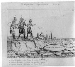 Champignons républicains en 1799. Source : http://data.abuledu.org/URI/5350366c-champignons-republicains-en-1799