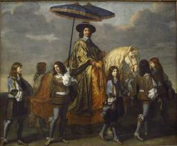 Chancelier sous des parasols au dix-septième siècle. Source : http://data.abuledu.org/URI/539a1888-chancelier-sous-des-parasols-au-dix-septieme-siecle