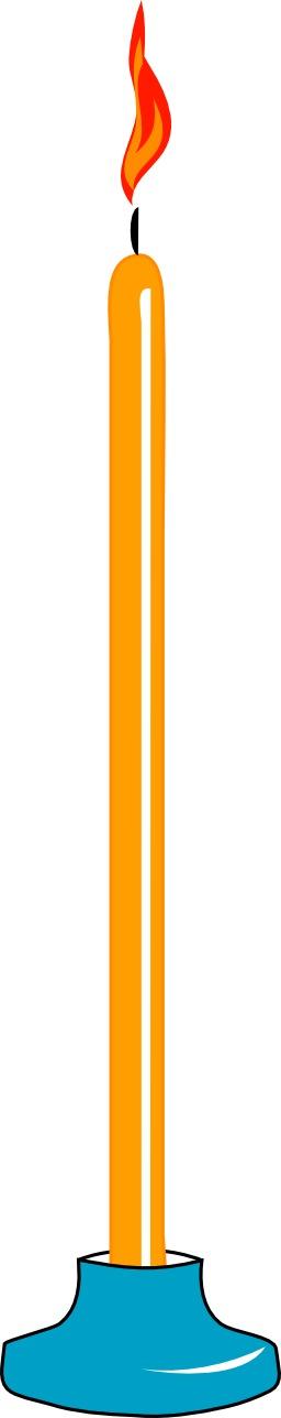 Chandelle allumée. Source : http://data.abuledu.org/URI/504a5f29-chandelle-allumee