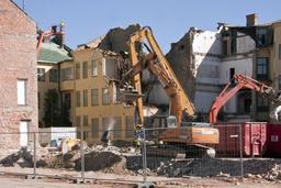 Chantier de démolition à Kristianstad. Source : http://data.abuledu.org/URI/52b9ac28-chantier-de-demolition-a-kristianstad