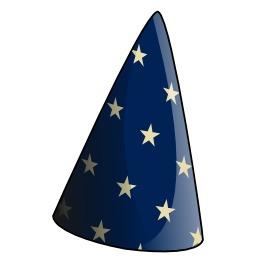chapeau bleu de magicien