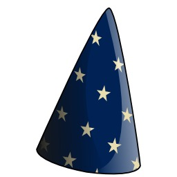 Chapeau bleu de magicien. Source : http://data.abuledu.org/URI/532db2a9-chapeau-bleu-de-magicien