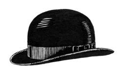 Chapeau melon noir. Source : http://data.abuledu.org/URI/50fb2e18-chapeau-melon-noir