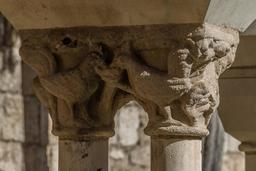 Chapiteau roman de la collégiale Saint-Salvy à Albi. Source : http://data.abuledu.org/URI/596d6f8a-chapiteau-roman-de-la-collegiale-saint-salvy-a-albi