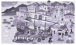 Chargement de navire marchand à la fin du quinzième siècle. Source : http://data.abuledu.org/URI/55a38bdb-chargement-de-navire-marchand-a-la-fin-du-quinzieme-siecle