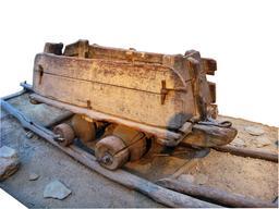 Chariot sur rail en bois en 1889. Source : http://data.abuledu.org/URI/56573968-chariot-sur-rail-en-bois-en-1889