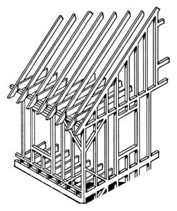 Charpente de maison en bois. Source : http://data.abuledu.org/URI/53e9192d-charpente-de-maison-en-bois