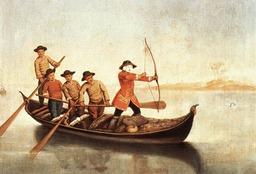 Chasse au canard sur le lagon de Venise. Source : http://data.abuledu.org/URI/5198a7f5-chasse-au-canard-sur-le-lagon-de-venise