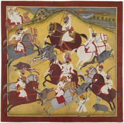 Chasse au sanglier autour de 1820. Source : http://data.abuledu.org/URI/53f482da-chasse-au-sanglier-autour-de-1820