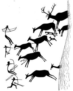 Chasseurs préhistoriques. Source : http://data.abuledu.org/URI/501dd075-chasseurs-prehistoriques