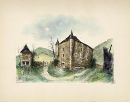 Château de Béon et pigeonnier. Source : http://data.abuledu.org/URI/536a92be-chateau-de-beon-et-pigeonnier