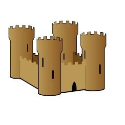 Château stylisé. Source : http://data.abuledu.org/URI/5406734e-chateau-stylise