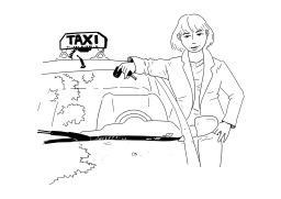 Chauffeur de taxi. Source : http://data.abuledu.org/URI/50251ef3-chauffeur-de-taxi