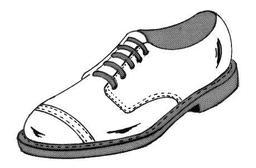 Chaussure d'homme blanche à lacet. Source : http://data.abuledu.org/URI/50fbc9c7-chaussure-d-homme-blanche-a-lacet