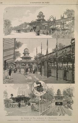 Chemin de fer intérieur de l'exposition de 1889. Source : http://data.abuledu.org/URI/58704e05-chemin-de-fer-interieur-de-l-exposition-de-1889