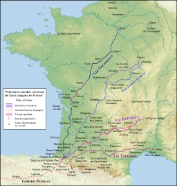 Chemins de Saint Jacques. Source : http://data.abuledu.org/URI/50636dcc-chemins-de-saint-jacques