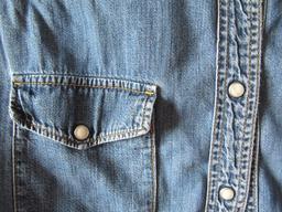 Chemise en jean avec poche. Source : http://data.abuledu.org/URI/50fd672f-chemise-en-jean-avec-poche