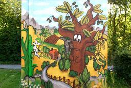 Chêne et jonquilles. Source : http://data.abuledu.org/URI/5519d0a0-chene-et-jonquilles