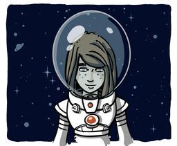 Chloé cosmonaute. Source : http://data.abuledu.org/URI/572af4c9-chloe-cosmonaute