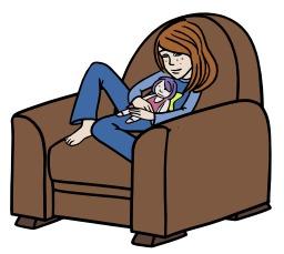 Chloé rêvasse dans son fauteuil. Source : http://data.abuledu.org/URI/5628d7cd-chloe-revasse-dans-son-fauteuil
