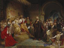 Christophe Colomb à la cour d'Espagne. Source : http://data.abuledu.org/URI/573b892b-christophe-colomb-a-la-cour-d-espagne