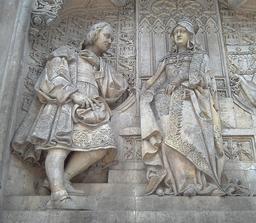 Christophe Colomb et la reine Isabelle. Source : http://data.abuledu.org/URI/573b887f-christophe-colomb-et-la-reine-isabelle
