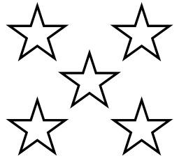 Cinq étoiles à cinq branches. Source : http://data.abuledu.org/URI/517f7b01-cinq-etoiles-a-cinq-branches