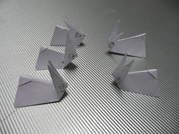 Cinq lapins en origami. Source : http://data.abuledu.org/URI/515a7d5c-cinq-lapins-en-origami