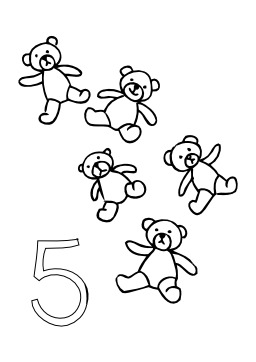 Cinq nounours. Source : http://data.abuledu.org/URI/50253111-cinq-nounours