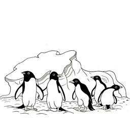 Cinq pingouins. Source : http://data.abuledu.org/URI/53fdf69b-cinq-pingouins